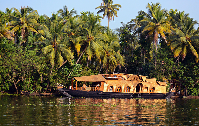 Hausboot und Backwaters
