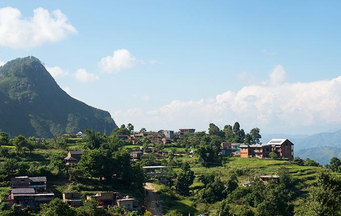 De Dhulikhel à Katmandou via Panauti