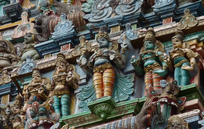 Découverte des temples dravidiens tamouls