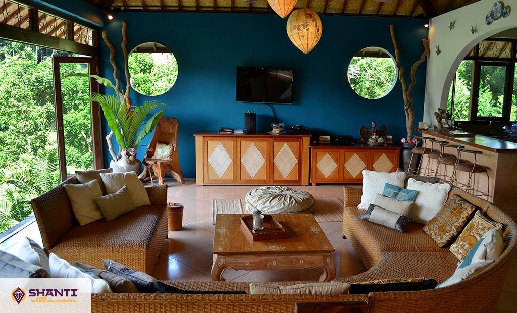 villa umah shanti in ubud rent villa ubud bali. Black Bedroom Furniture Sets. Home Design Ideas