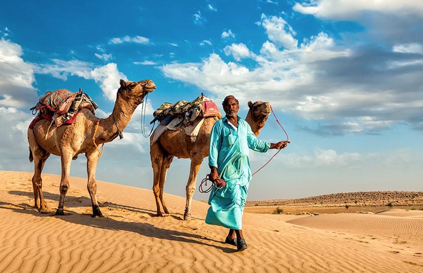 Die Wüste Thar & Aravelli Hügel