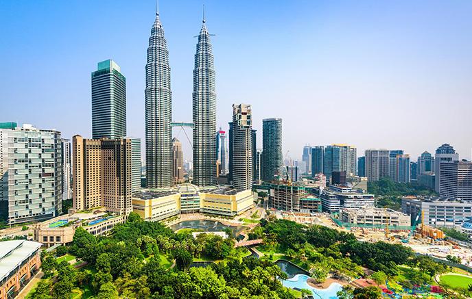Ankunft am Flughafen Kuala Lumpur