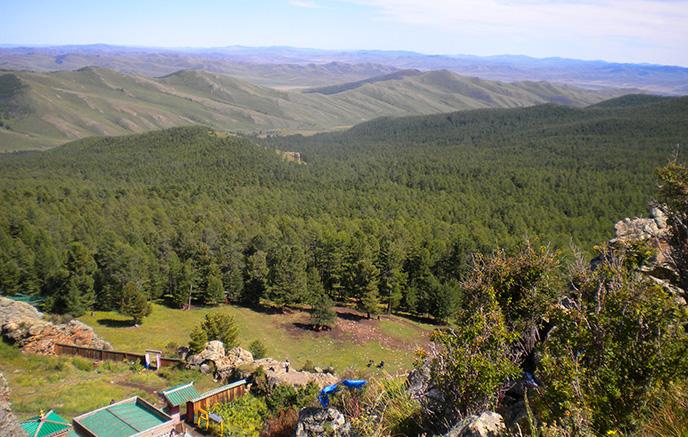 Vallée de l'Orkhon : le monastère de Tovkhon