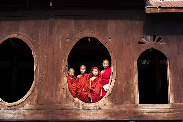 Birmanie moines