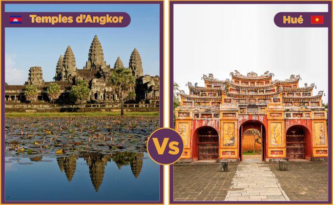 Temples d'Angkor vs Hué