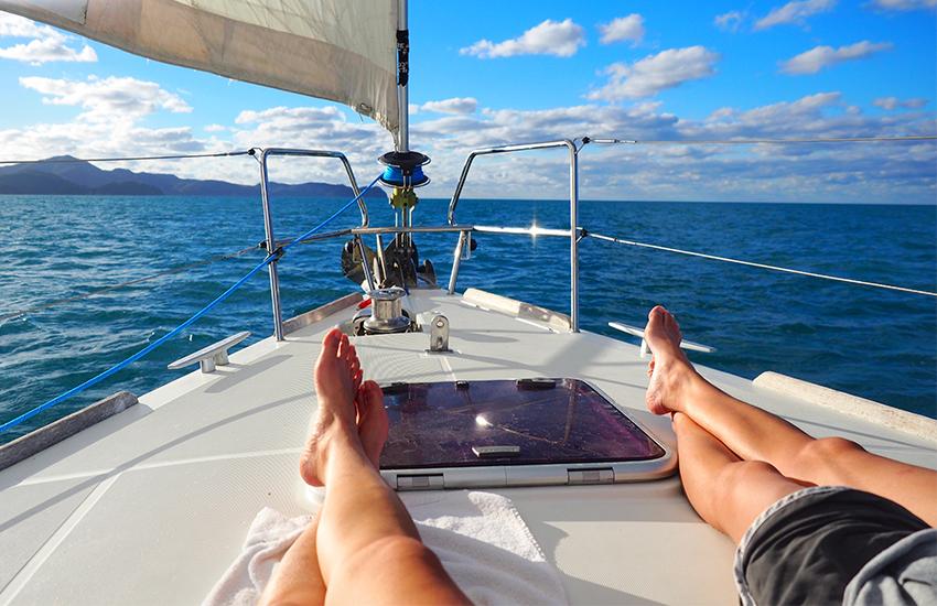 Jeûne et randonnée sur catamaran