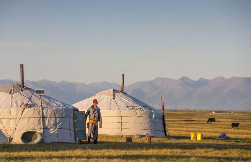Voyage à pied : Yourtes et nomades de Mongolie