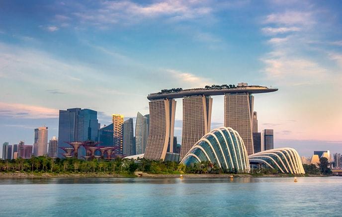 Arrivée à l'aéroport international de Changi