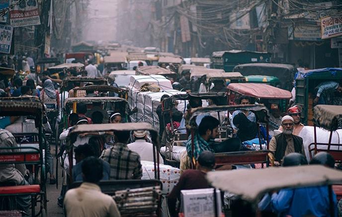 Ankunft in Delhi